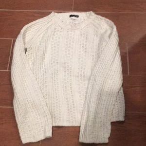 J.Crew white knitted long sleeved tee
